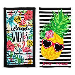Island Vibes/Chill Pineapple Beach Towel Set