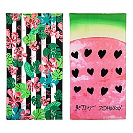 Tropical Life/Watermelon Beach Towel Set