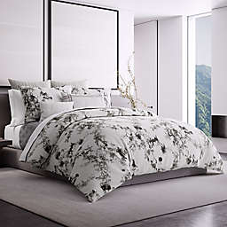 Vera Wang Charcoal Vines King Duvet Cover in Ivory/Charcoal