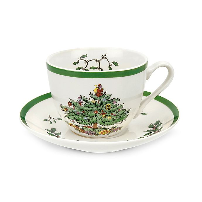 Alternate image 1 for Spode® Christmas Tree Cup and Saucer