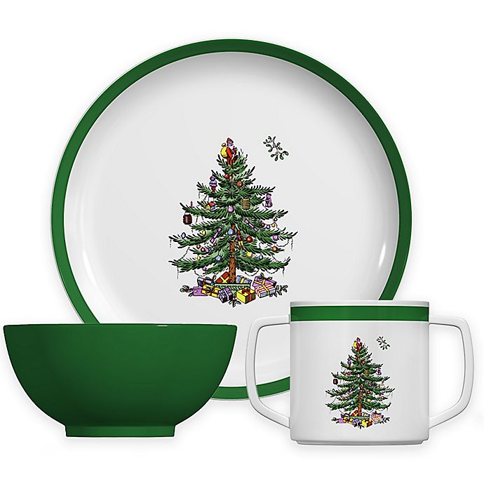 Alternate image 1 for Spode® Christmas Tree 3-Piece Children's Place Setting