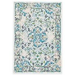 Feizy Gara Medallion Rug in Blue/White