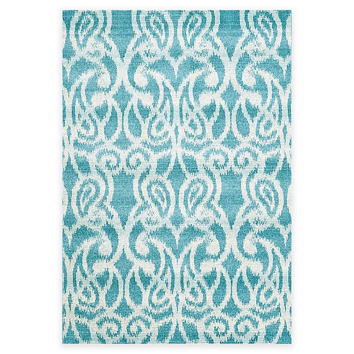 Alternate image 1 for Feizy Gara Scrolls 2-Foot 2-Inch x 4-Foot Accent Rug in Teal