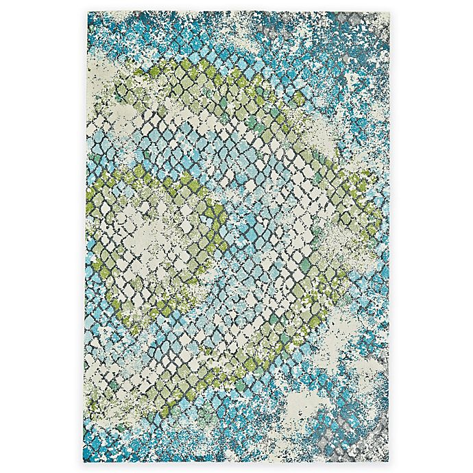 Alternate image 1 for Feizy Gara Tiles 2-Foot 2-Inch x 4-Foot Accent Rug in Blue/Green