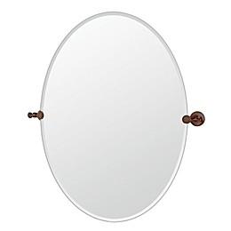 Gatco® Tavern 28.5-Inch x 32-Inch Frameless Oval Mirror in Bronze