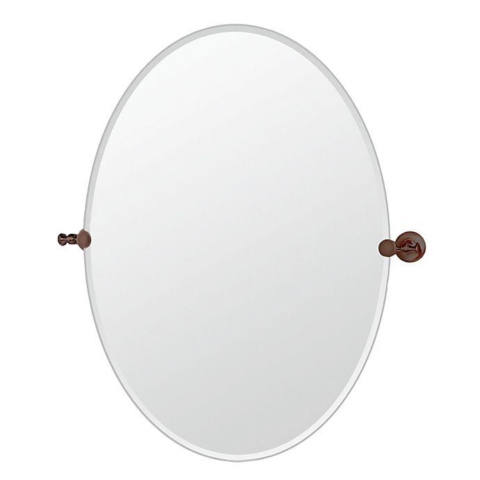 Alternate image 1 for Gatco® Tavern 28.5-Inch x 32-Inch Frameless Oval Mirror