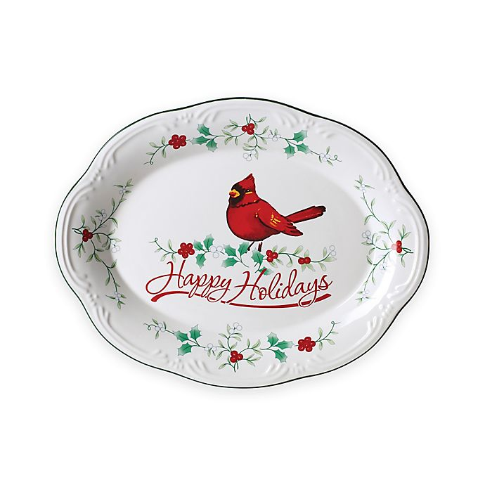 Alternate image 1 for Pfaltzgraff® Winterberry Oval Platter
