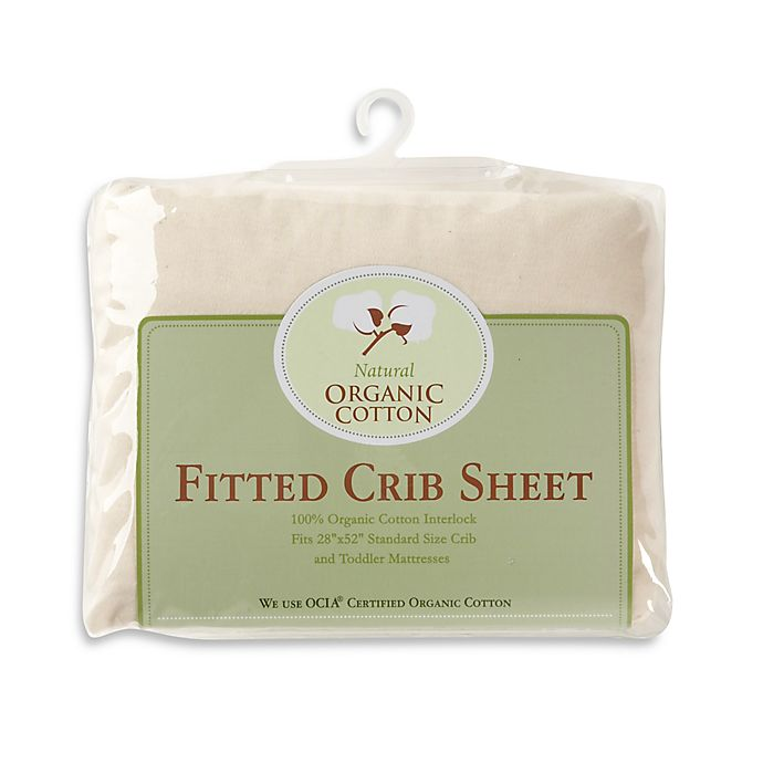 Alternate image 1 for TL Care® Knit Fitted Crib Sheet Made with Organic Cotton in Natural