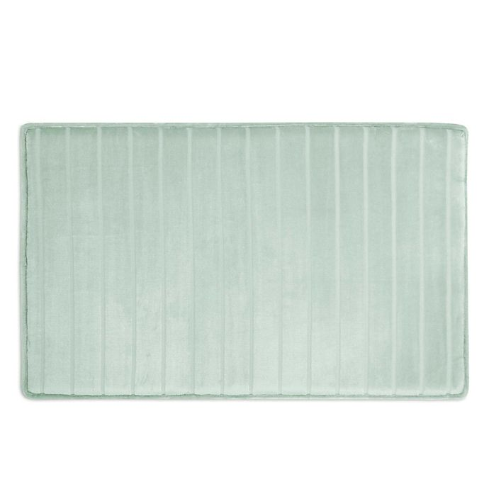 Alternate image 1 for Micro Plush Memory Foam Bath Mat