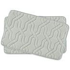 Bounce Comfort Drona Memory Foam 17-Inch x 24-Inch Bath Mats in Light Grey (Set of 2)