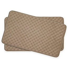 Bounce Comfort Massage Memory Foam 17-Inch x 24-Inch Bath Mats (Set of 2)