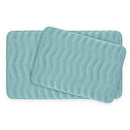 Bounce Comfort Waves Memory Foam 2-Piece Bath Mat Set