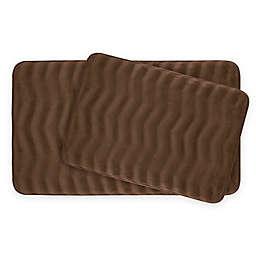 Bounce Comfort Waves Memory Foam 2-Piece Bath Mat Set