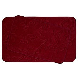Bounce Comfort Spring Leaves Memory Foam 2-Piece Bath Mat Set