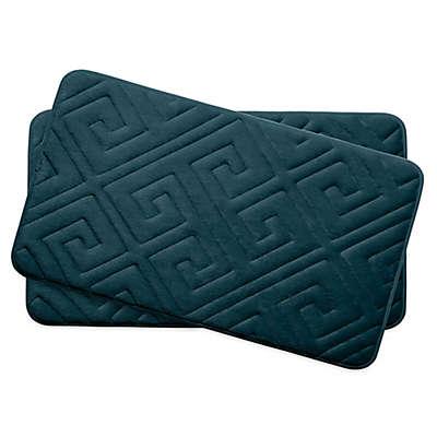 Bounce Comfort Caicos Memory Foam 17-Inch x 24-Inch  Bath Mats (Set of 2)