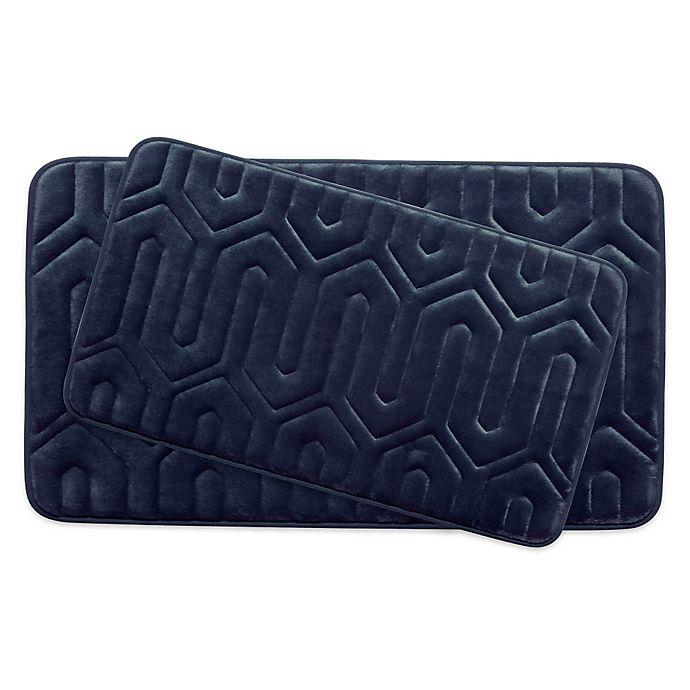 Alternate image 1 for Bounce Comfort Thea Memory Foam 2-Piece Bath Mat Set in Indigo