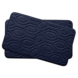 Bounce Comfort Turtle Shell Memory Foam 17-Inch x 24-Inch Bath Mats (Set of 2)