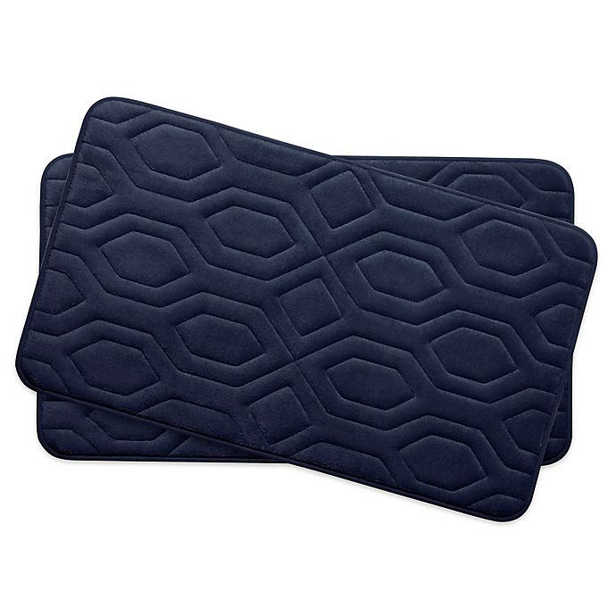 Alternate image 1 for Bounce Comfort Turtle Shell Memory Foam 17-Inch x 24-Inch Bath Mats (Set of 2)