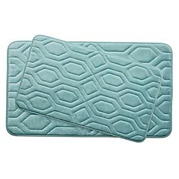 Bounce Comfort Turtle Shell Memory Foam 2-Piece Bath Mat Set