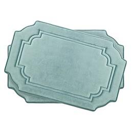 Bounce Comfort Calypso Memory Foam 17-Inch x 24-Inch Bath Mats (Set of 2)