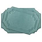 Bounce Comfort Calypso Memory Foam 2-Piece Bath Mat Set in Blue