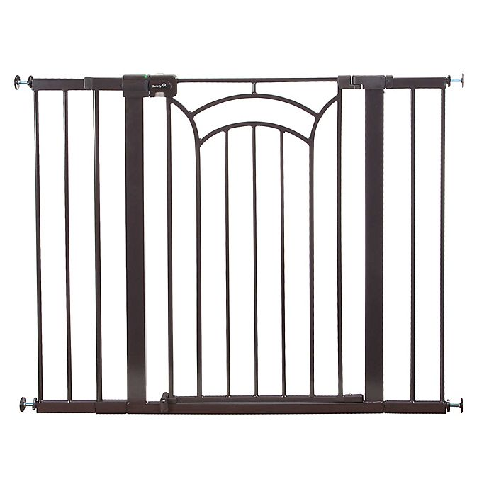 Alternate image 1 for Safety 1st® Easy Install Décor Tall and Wide Walk-Thru Gate in Brown