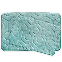 Bounce Comfort Hexagon Memory Foam 2-Piece Bath Mat Set