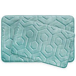 Bounce Comfort Hexagon Memory Foam 2-Piece Bath Mat Set