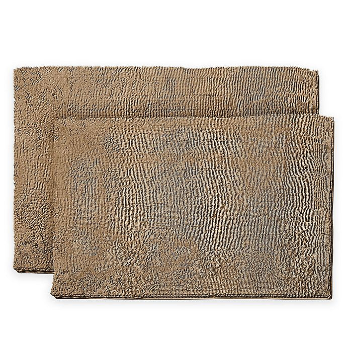 Alternate image 1 for Resort Collection Chenille Plush Loop 17-Inch x 24-Inch Bath Mats (Set of 2)