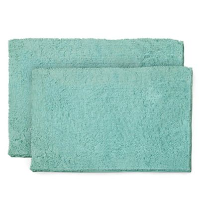 Resort Collection Chenille Plush Loop 2-Piece Bath Mat Set ...