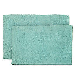 Resort Collection Chenille Plush Loop 2-Piece Bath Mat Set
