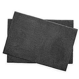 Bounce Comfort Memory Foam Chenille Bath Mats in Dark Grey (Set of 2)