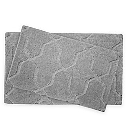 Jean Pierre Pearl Drona 2-Piece Bath Mat Set
