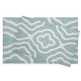 Jean Pierre Giri 2-Piece Reversible Cotton Bath Rug Set