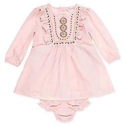 Jessica Simpson 2-Piece Rose Dress and Diaper Cover Set