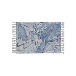 "Wamsutta® Collective Marble Print 20"" x 33"" Bath Rug in Country Blue"