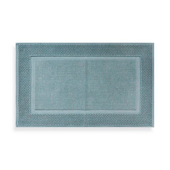 Alternate image 1 for Wamsutta® Jacquard 20-Inch x 33-Inch Ring-Spun Cotton Bath Rug in Sea