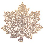 Stained Glass Leaf Placemat in Gold