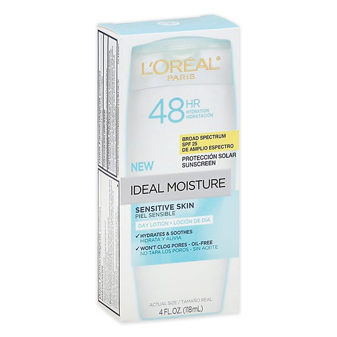 L'Oreal® Ideal Moisture™ 4 oz. Day Lotion for Sensitive Skin with SPF 25 |  Bed Bath & Beyond