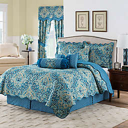 Waverly Moonlit Shadows 4-Piece Reversible Quilt Set