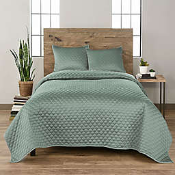 Waverly® Vue Ella 3-Piece Quilt Set in Green