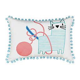 Waverly® Spree Kitty City Emboridered Multicolor Throw Pillow