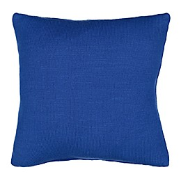 Waverly® Spree Kitty City Knitted Square Throw Pillow in Blue