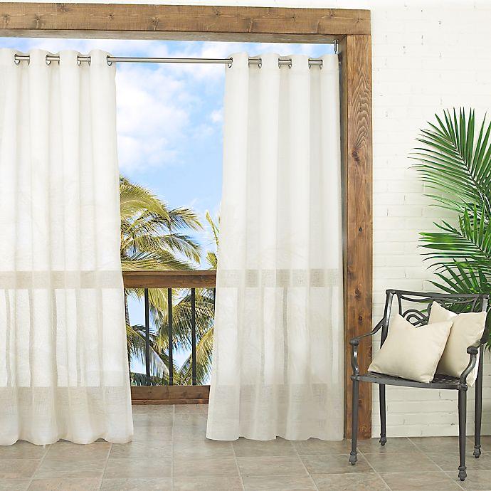 Alternate image 1 for Waverly Resort Sun-N-Shade Sheer Grommet Window Curtain Panel (Single)