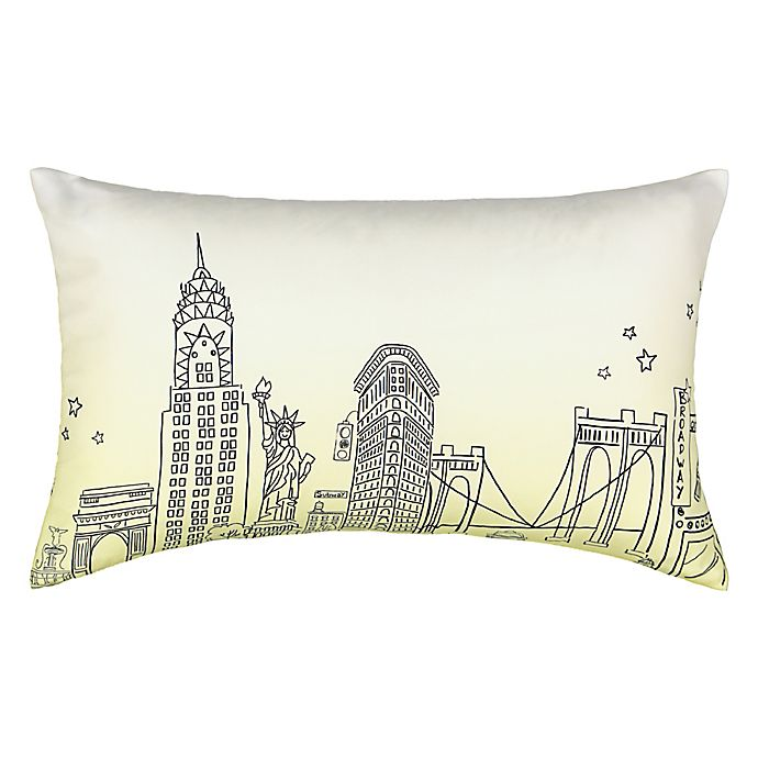 Alternate image 1 for Waverly® Spree Cityscape Landmark Ombre Oblong Throw Pillow