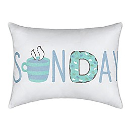 Waverly® Spree Lights Out Sunday Oblong Throw Pillow in Spa