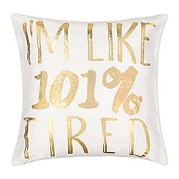 Waverly® Spree Lights Out Metallic Throw Pillow in White/Gold