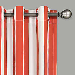Waverly® Solstice Stripe 95-Inch Grommet Light Filtering Window Curtain Panel in Chili