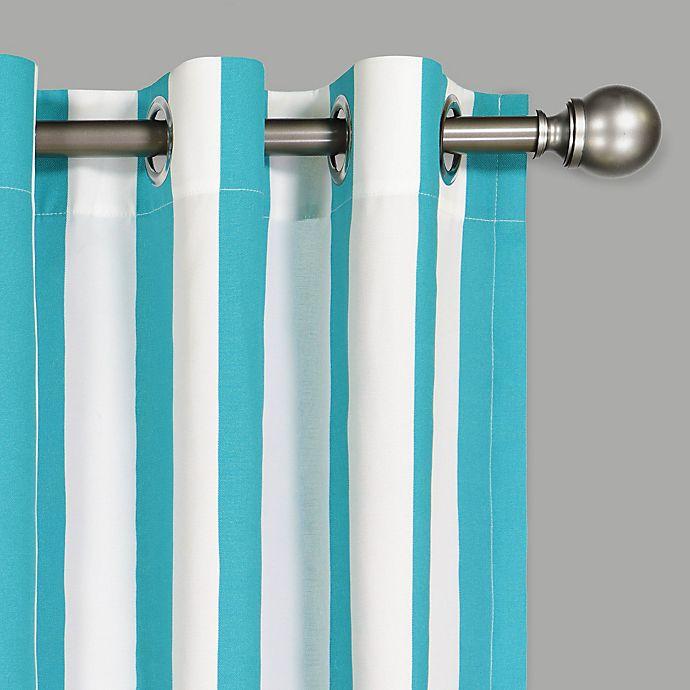 Alternate image 1 for Waverly® Solstice Stripe Grommet Light Filtering Window Curtain Panel (Single)