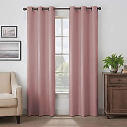 Eclipse Martina 108-Inch Grommet Blackout Window Curtain Panel in Rose (Single)